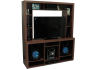 MESA RACK TV/AUDIO OM128 EMC CEDRO CON CRISTAL
