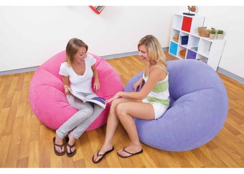 Sillon inflable intex beanless bag chair 107 x 104 x 69 for Piletas inflables intex precios