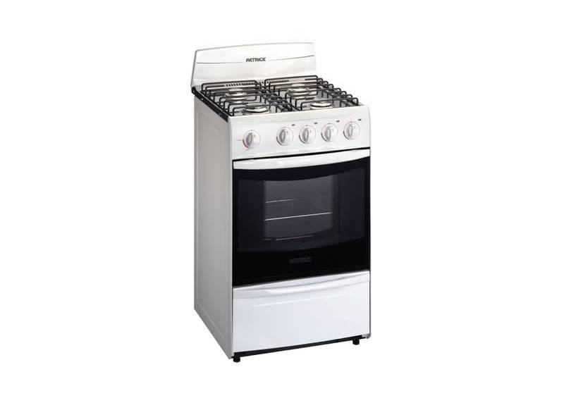 Cocina a gas patrick blanca 51cm cpf2251bvs suma hogar for Cocinas a gas precios