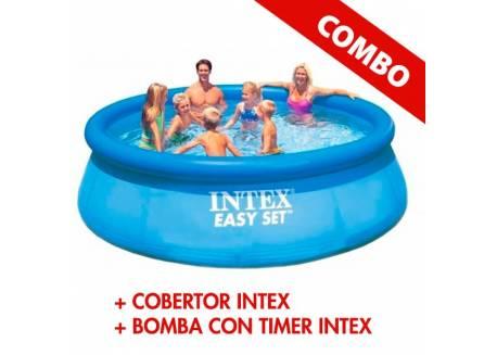 COMBO PILETA + COBERTOR + BOMBA INTEX