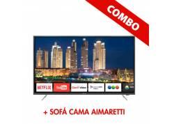 """COMBO LED 65"""" NOBLEX + SOFA CAMA AIMARETTI"""