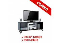 "COMBO LED 32"" NOBLEX + REPRODUCTOR DVD NOBLEX + RACK TV"