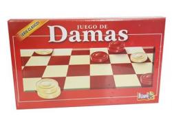 JUEGO DE DAMAS FICHAS PLASTICAS